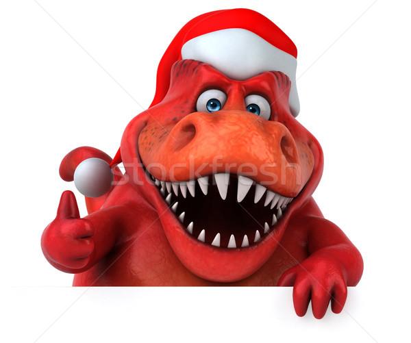 весело динозавр 3d иллюстрации зубов животного Рождества Сток-фото © julientromeur