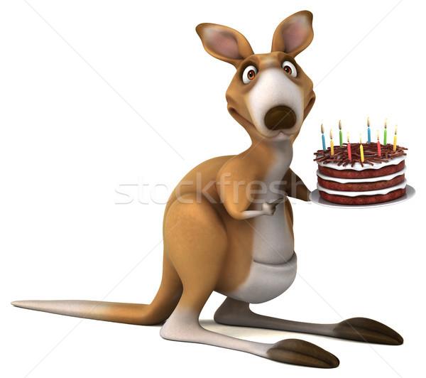 Stok fotoğraf: Eğlence · kanguru · 3d · illustration · gıda · çikolata · kek