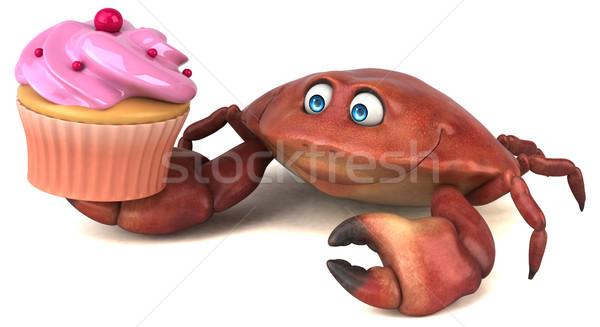 Distracţie crab ilustrare 3d alimente alb desen animat Imagine de stoc © julientromeur