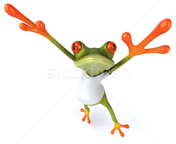 Frog with a white tshirt Stock photo © julientromeur