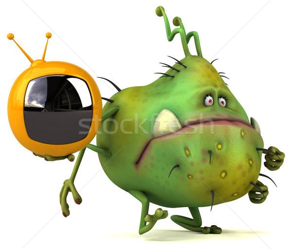 Jókedv bacilus 3d illusztráció egészség kommunikáció média Stock fotó © julientromeur