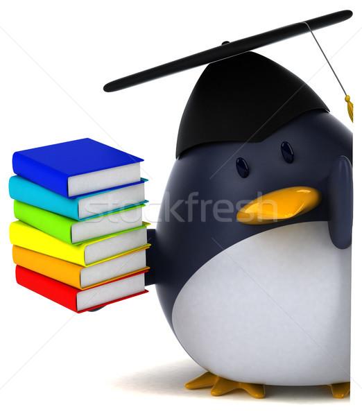 Jókedv pingvin 3d illusztráció könyvek madár vicces Stock fotó © julientromeur