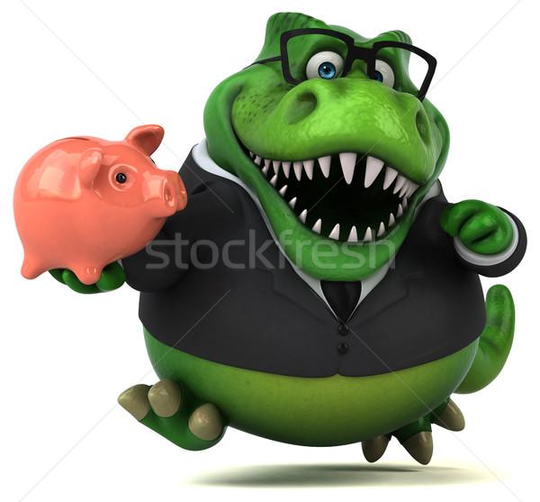 Diversão ilustração 3d empresário financiar dentes animal Foto stock © julientromeur