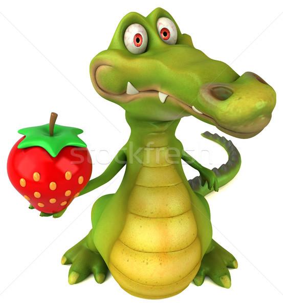Krokodil eğlence mutlu dizayn sanat ağız Stok fotoğraf © julientromeur