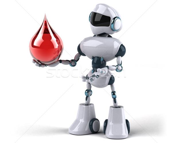 Robot tecnologia rosso retro futuro drop Foto d'archivio © julientromeur