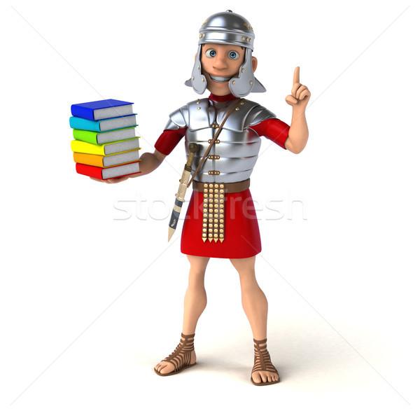 Római katona könyv kard verekedés hadsereg Stock fotó © julientromeur