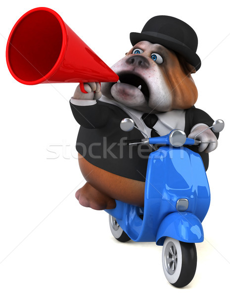 Zabawy bulldog 3d ilustracji psa model sztuki Zdjęcia stock © julientromeur