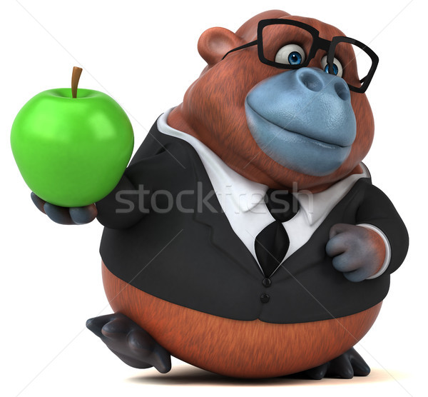 Eğlence 3d illustration iş doğa elma meyve Stok fotoğraf © julientromeur