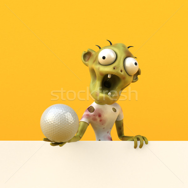 Leuk zombie 3d illustration man golf sport Stockfoto © julientromeur