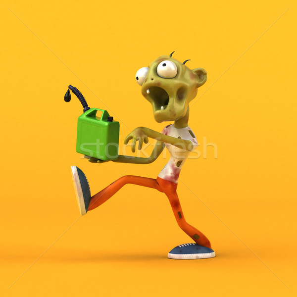 Diversión zombi 3d hombre verde muerte Foto stock © julientromeur