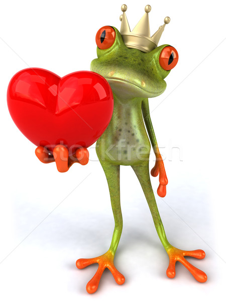 Stock photo: Frog and love