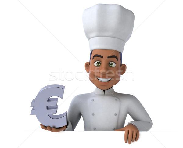Jókedv szakács üzlet pénz konyha pénzügy Stock fotó © julientromeur