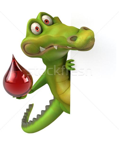 Krokodil eğlence mutlu dizayn kan sanat Stok fotoğraf © julientromeur