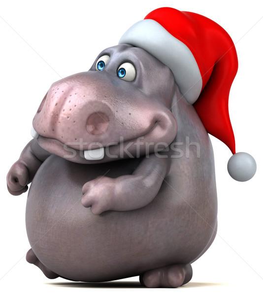 Zabawy hipopotam 3d ilustracji tłuszczu graficzne Afryki Zdjęcia stock © julientromeur