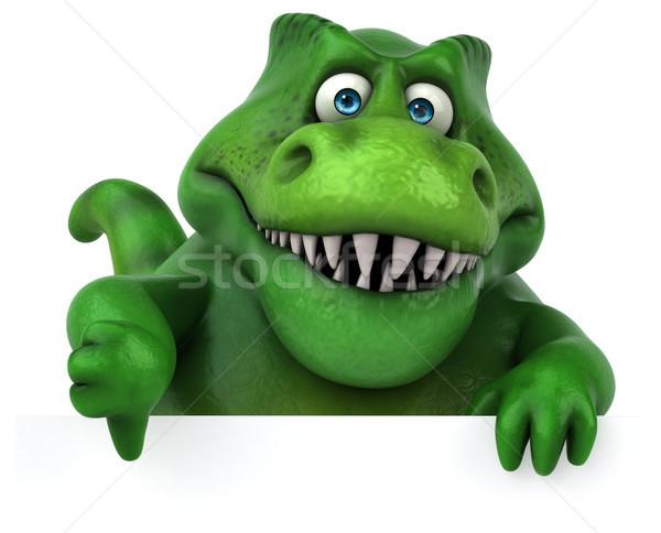 весело динозавр 3d иллюстрации зубов животного история Сток-фото © julientromeur