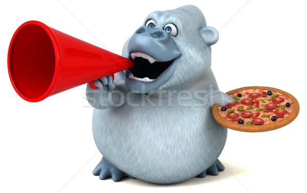 Eğlence doğa pizza Afrika komik hayvan Stok fotoğraf © julientromeur