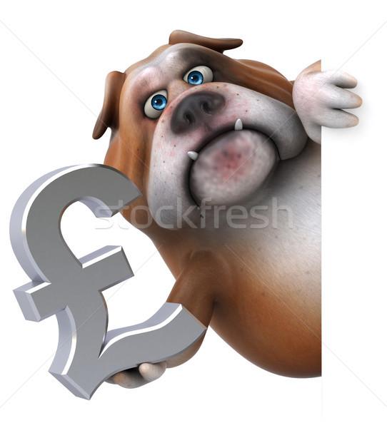 Divertimento bulldog illustrazione 3d business finanziare Foto d'archivio © julientromeur