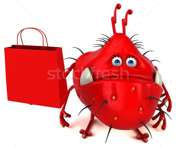 Jókedv bacilus 3d illusztráció grafikus rajz vásár Stock fotó © julientromeur