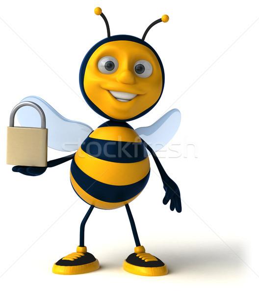 Leuk bee werknemer honing antenne vleugel Stockfoto © julientromeur