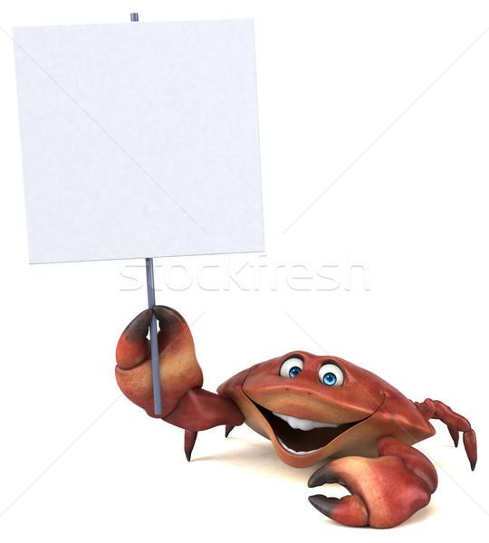Distracţie crab ilustrare 3d alimente alb gătit Imagine de stoc © julientromeur