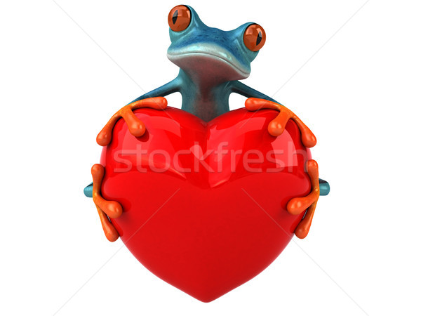 Amusement grenouille 3d illustration nature coeur tropicales Photo stock © julientromeur