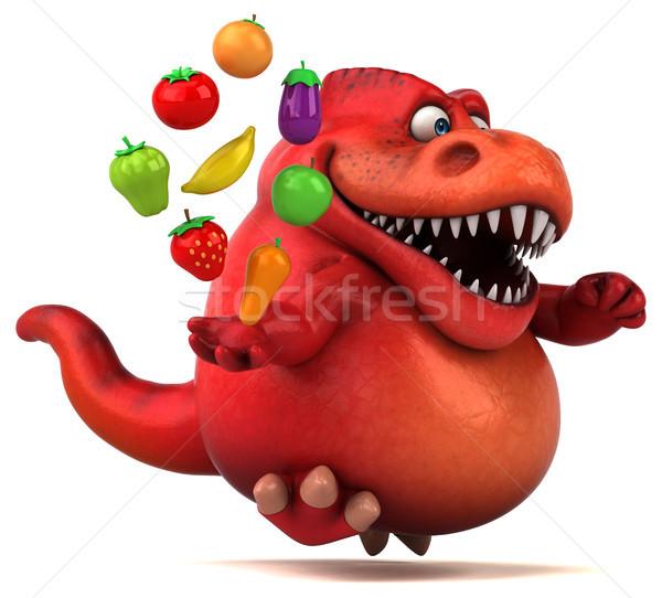 весело динозавр 3d иллюстрации фрукты оранжевый зубов Сток-фото © julientromeur