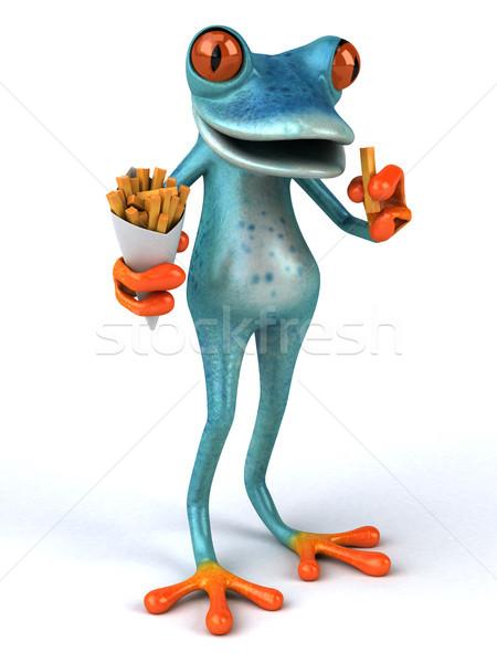 Distracţie broască ilustrare 3d albastru mediu fast food Imagine de stoc © julientromeur