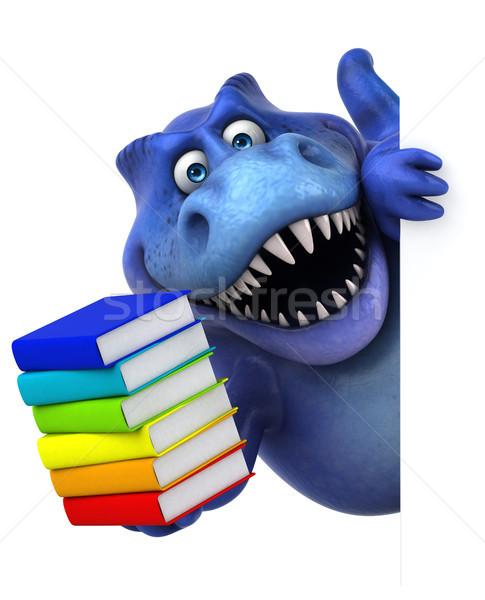 Eğlence dinozor 3d illustration kitap dişler hayvan Stok fotoğraf © julientromeur