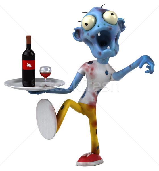 Eğlence zombi 3d illustration kan içmek ölüm Stok fotoğraf © julientromeur