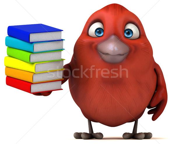 Сток-фото: красный · птица · книга · школы · оранжевый · груди