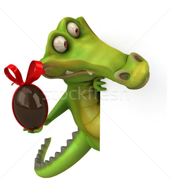 Krokodil eğlence mutlu dizayn çikolata yumurta Stok fotoğraf © julientromeur