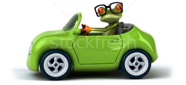 Divertimento rana metal verde velocità traffico Foto d'archivio © julientromeur