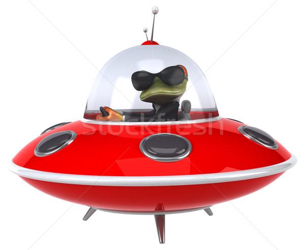 Zabawy żaba przestrzeni zielone statku nauki Zdjęcia stock © julientromeur