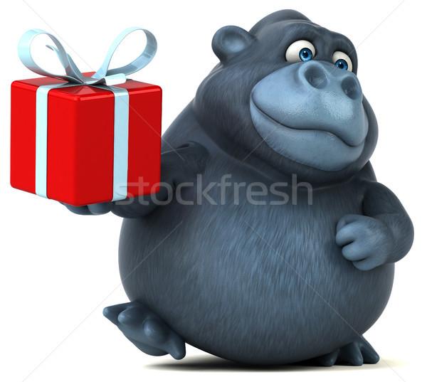Eğlence goril 3d illustration doğa Afrika komik Stok fotoğraf © julientromeur