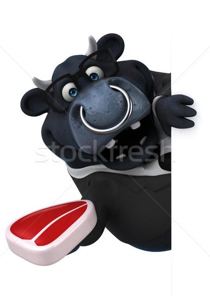 Сток-фото: черный · бык · 3d · иллюстрации · бизнеса · бизнесмен · фермы