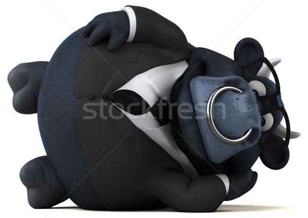 Fun bull - 3D Illustration Stock photo © julientromeur