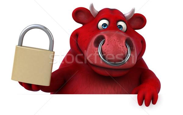 赤 牛 3次元の図 髪 牛 ファーム ストックフォト © julientromeur