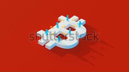 Dinheiro bitcoin ilustração 3d internet rede tela Foto stock © julientromeur