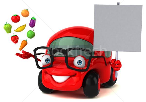 Diversión coche 3d manzana metal velocidad Foto stock © julientromeur