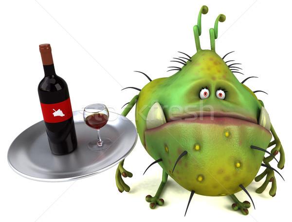 Jókedv bacilus 3d illusztráció egészség ital pincér Stock fotó © julientromeur