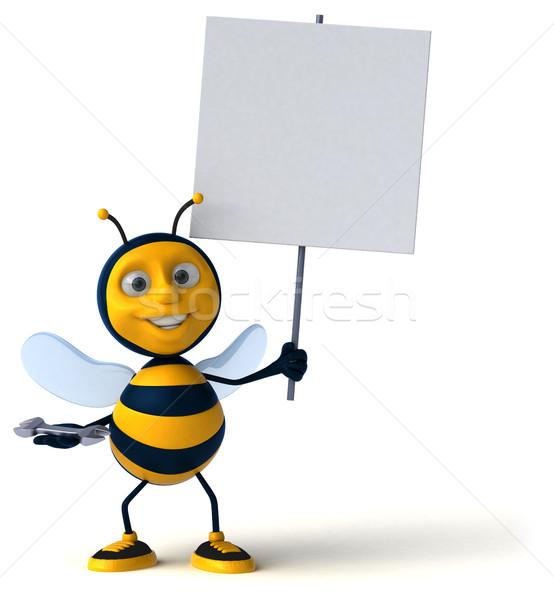 Leuk bee werknemer honing antenne reparatie Stockfoto © julientromeur