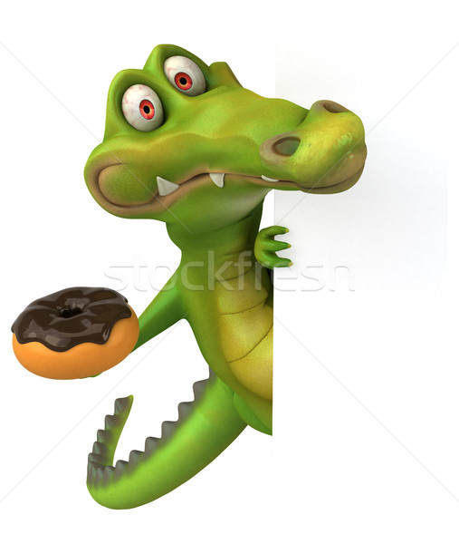 Krokodil jókedv boldog terv csokoládé művészet Stock fotó © julientromeur
