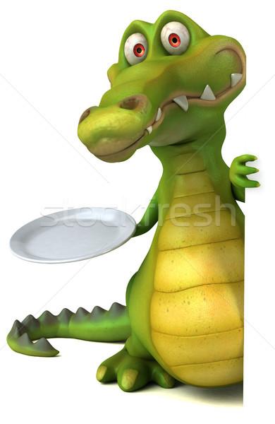 Krokodil eğlence gıda mutlu dizayn sanat Stok fotoğraf © julientromeur