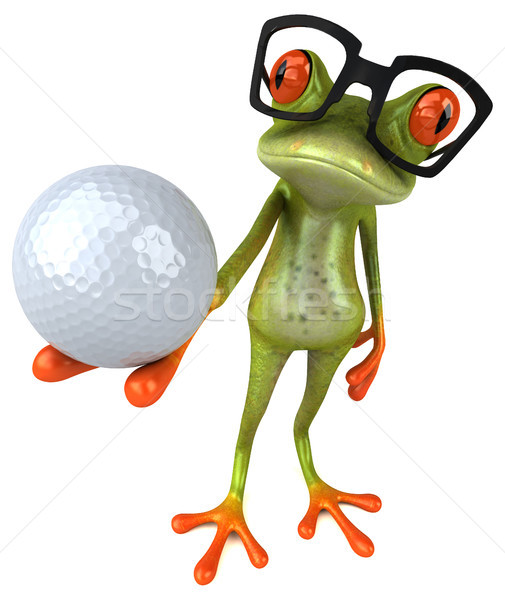 Jókedv béka szem golf sport természet Stock fotó © julientromeur