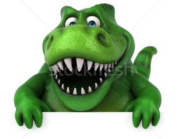 Eğlence dinozor 3d illustration dişler hayvan tarih Stok fotoğraf © julientromeur