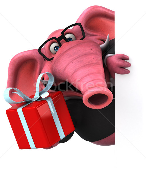 Roze olifant 3d illustration wijn bier pak Stockfoto © julientromeur