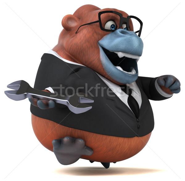 весело 3d иллюстрации бизнеса природы бизнесмен очки Сток-фото © julientromeur