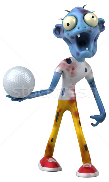 Leuk zombie 3d illustration golf bloed dood Stockfoto © julientromeur