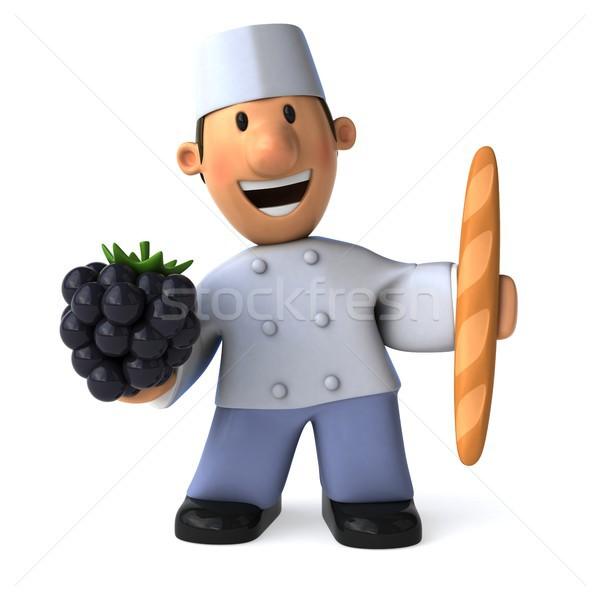 Leuk bakker 3d illustration chef bakkerij Stockfoto © julientromeur