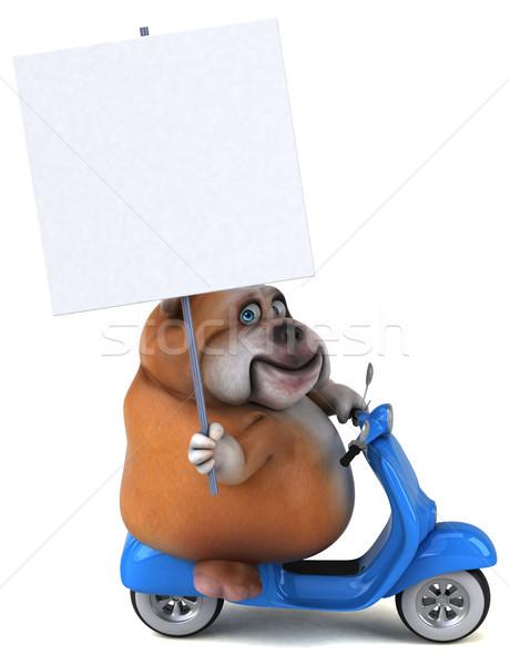 Leuk bulldog 3d illustration hond model kunst Stockfoto © julientromeur
